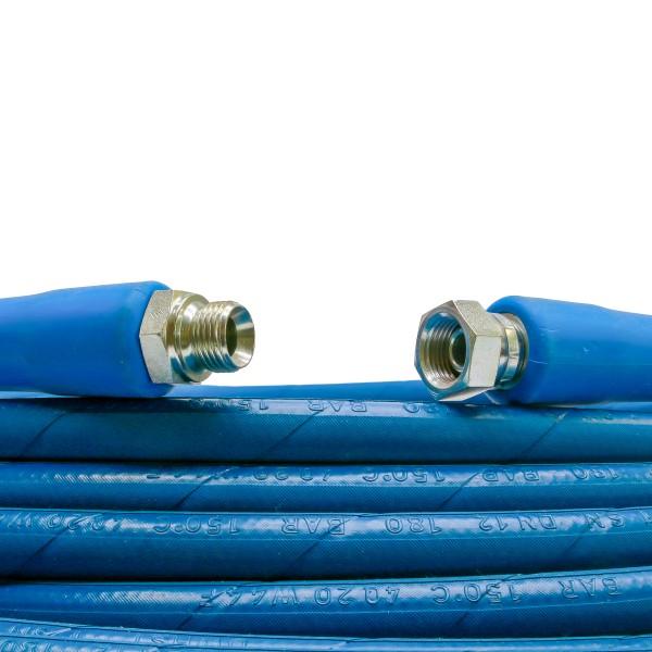 HD Schlauch,1SN DN12, blau, 10m