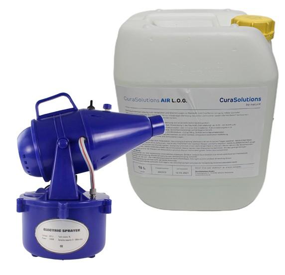 Kaltnebelgerät-Nebler ES + 10L CuraSolution AIR L.O.G.