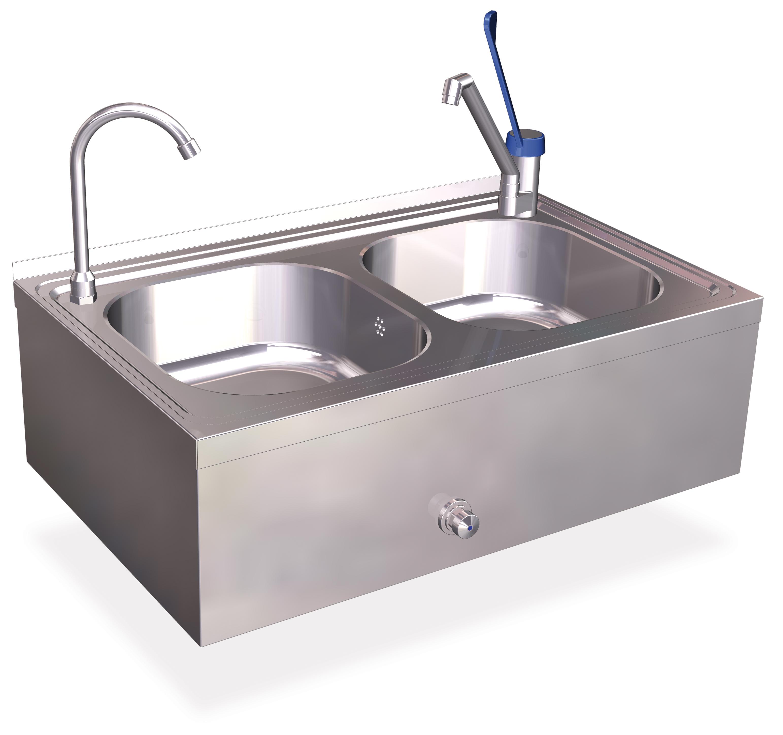 Handwaschbecken und Spülbecken aus Edelstahl  ~ Spülbecken Doppelt Edelstahl