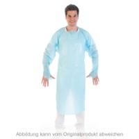 Schutzkittel Einweg, Daumenloch, CPE, blau, XL