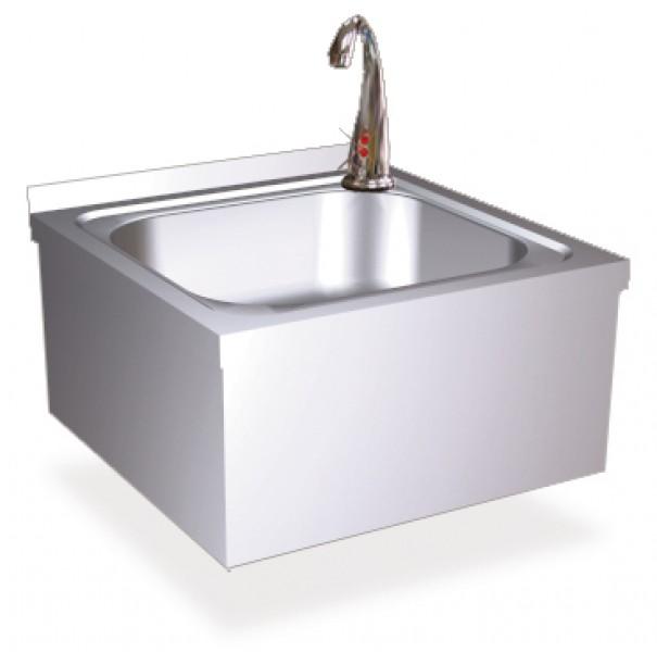 handwaschbecken mit sensorbedienung handwaschbecken aus edelstahl personalhygiene. Black Bedroom Furniture Sets. Home Design Ideas