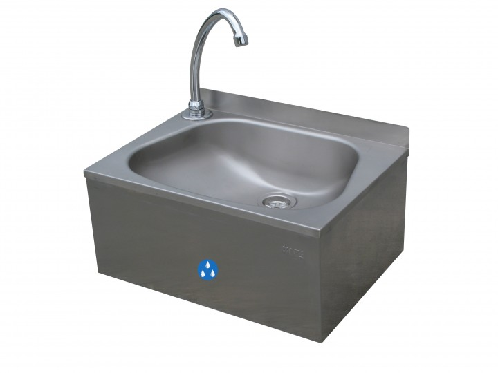 handwaschbecken mit knie bedienung eco handwaschbecken aus edelstahl personalhygiene. Black Bedroom Furniture Sets. Home Design Ideas